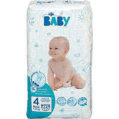 Scutece Carrefour Baby maxi Marimea 4, 7-14kg, 72 buc