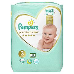 Scutece Pampers Premium Care, Marime 3, 6-10 kg, 20 buc