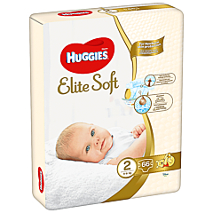 Scutece Huggies Elite Soft (nr 2), Jumbo pack, 66 buc, 4-6 kg