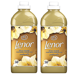 Pachet Promo: 2 x Balsam de rufe Lenor Gold Orchid 1,9 l, 63 Spalari