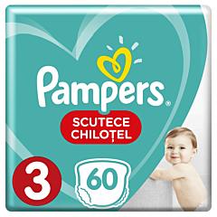 Scutece chilotel Pampers Pants Jumbo Pack, Marimea 3, 6-11 kg, 60bucati