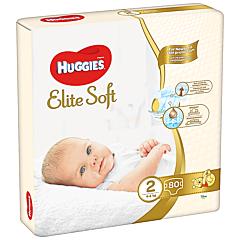 Scutece Huggies Elite Soft Mega Marime 2, 4-6 kg, 80 buc