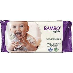 Servetele umede ecologice pentru bebelusi, Bambo Nature, 50 bucati