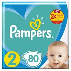 Scutece Pampers Active Baby Jumbo Pack, Marimea 2, Nou Nascut, 4-8kg, 80 buc