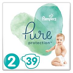Scutece Pampers Pure Protection Marimea 2, 4-8 kg, 39 buc
