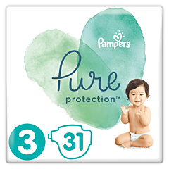 Scutece Pampers Pure Protection Marimea 3, 6-10kg, 31buc