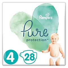 Scutece Pampers Pure Protection Marimea 4, 9-14 kg, 28 buc