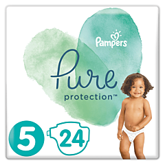 Scutece Pampers Pure Protection Marimea 5, 11-16 kg, 24 buc
