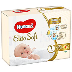 Scutece Huggies Elite Soft (nr 1), Convi pack, 26 buc, 3-5 kg