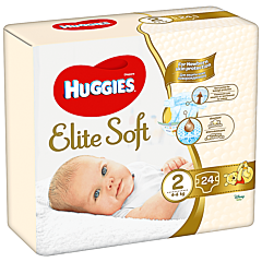 Scutece Huggies Elite Soft (nr 2), Convi pack, 24 buc, 4-6 kg