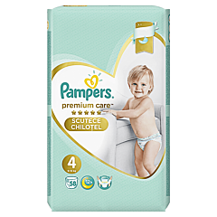 Scutece chilotel Pampers Premium Care Pants, Marime 4, 9-15 kg, 58 buc