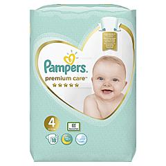Scutece Pampers Premium Care, Marime 4, 9-14 kg, 18 buc