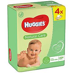 Servetele umede Huggies Natural Care Quad, 4 x 56 buc