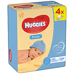 Servetele umede Huggies Pure Quad, 4 x 56 buc