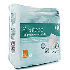 Scutece tip chilot pentru adulti, Carrefour, marimea L (100-150cm), 10 bucati