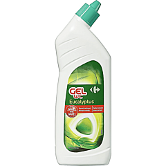 Solutie de curatare gel a toaletei, cu parfum de eucalipt, Carrefour, 750ml