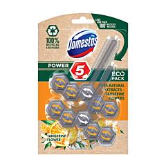 Odorizant ecologic pentru toaleta, Domestos Power 5 Tangerine Flower, 2x55g