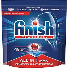 Detergent pentru masina de spalat vase, Finish All in 1 Max, 48 tablete