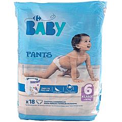 Scutece chilotei Carrefour Baby Pants, nr.6, +16kg, 18buc