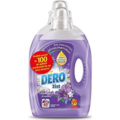 Dero 2 in 1 detergent rufe automat lichid levantica si iasomie, 40 spalari ,2L