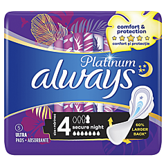Absorbante Always Platinum Secure Night, 5 bucati