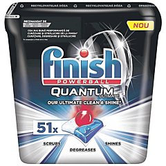 Detergent pentru masina de spalat vase Finish Powerball Quantum Ultimate, 51 bucati