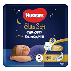 Scutece-chilotel de noapte Huggies Elite Soft Pants (nr 3), 23 buc, 6-11 kg
