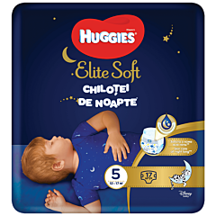 Scutece-chilotel de noapte Huggies Elite Soft Pants (nr 5), 17 buc, 12-17 kg