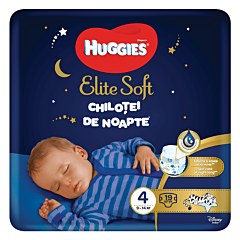 Scutece-chilotel de noapte Huggies Elite Soft Pants (nr 4), 19 buc, 9-14 kg