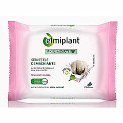 Servetele demachiante cu extract de bumbac Elmiplant 25 buc