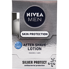 Lotiune dupa ras Nivea Men Silver Protect, 100 ml
