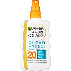 Spray cu protectie solara, Garnier Ambre Solaire Clear Protect, SPF20, 200ml