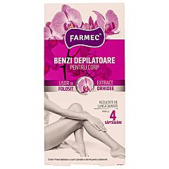 Benzi depilatoare pentru corp cu orhidee Farmec 14buc
