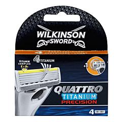 Rezerva aparat de ras, Wilkinson Quattro Titanium Precision, 4 bucati