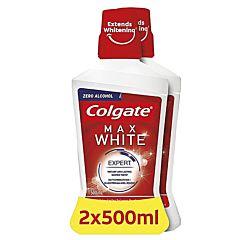 Apa de gura Colgate Max White 2*500ml Super Pret (1+1 Gratis)