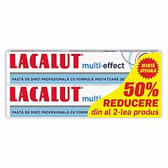 Pasta de dinti profesionala multi-effect Lacalut 1+1-50% 75ml