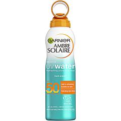 Spray cu protectie solara pentru fata si corp, Garnier Ambre Solaire UV Water, SPF50, 200ml