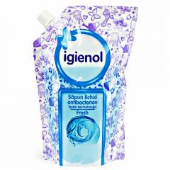 Rezerva sapun lichid antibacterian Igienol Fresh 500ml