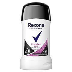 Deodorant antiperspirant stick, Rexona Invisible Pure, 40ml