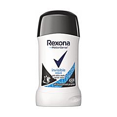 Deodorant antiperspirant stick, Rexona Invisible Aqua, 40ml
