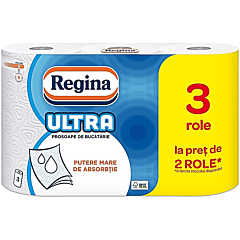 Prosoape de bucatarie, Regina Ultra, 3 straturi, 3 role