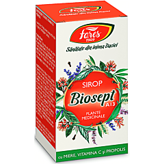 Sirop Biosept miere, vitamina C si propolis Fares 100ml