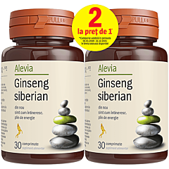 Ginseng siberian Alevia, 1+1, 30 comprimate
