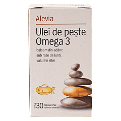 Ulei de peste Omega 3, Alevia, 30capsule