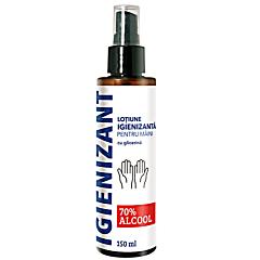 Lotiune igienizanta pentru maini 70% alcool etilic si glicerina Cosmetic Plant 150ml