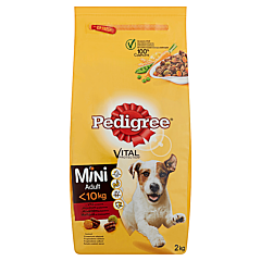 Hrana uscata cu vita si legume pentru caini adulti Pedigree Vital 2kg