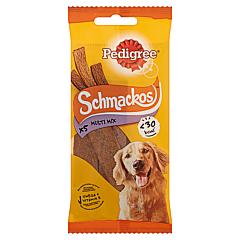Hrana uscata complementara cu vita pentru caini adulti Pedigree Schmackos 5buc