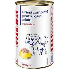 Hrana umeda pentru caini adulti, cu pasare, Carrefour, 1240 g