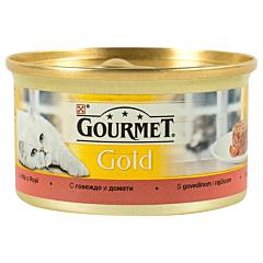 Hrana umeda pentru pisici cu vita si rosii Purina Gourmet Gold 85g