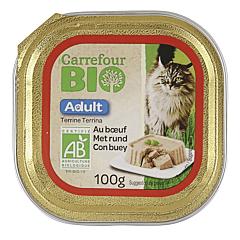 Pate cu vita pentru pisica Carrefour Bio 100g
